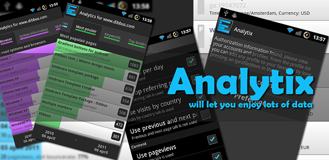 New Android app: Analytix for Google Analytics